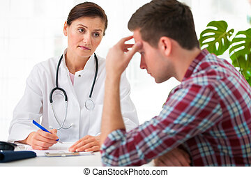 talking, пациент, врач