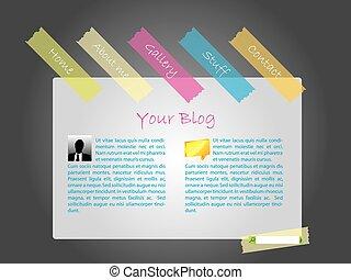 tapes, веб-сайт, цвет, шаблон