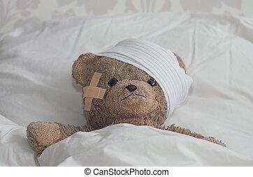 teddybear, постель