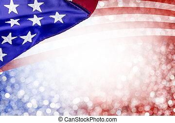 usa, июль, независимость, bokeh, дизайн, другие, задний план, день, 4, абстрактные, флаг, праздник