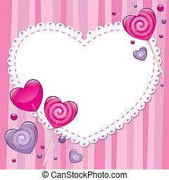 valentine's, день, карта, приветствие