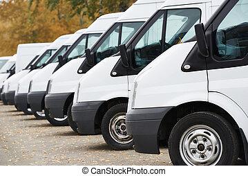 vans, коммерческая, ряд