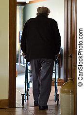 (walking, человек, ходок, frame), пожилой, использование