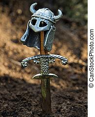 warrior's, могила