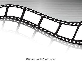 waved, вектор, полоса, фильм, illustratio