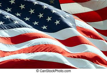 waving, американская, флаг