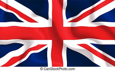 waving, флаг, uk