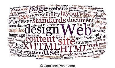 web, слово, дизайн, облако