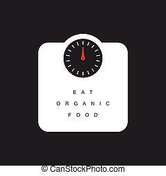 weighing, scales, питание, иллюстрация, органический, сообщение, есть