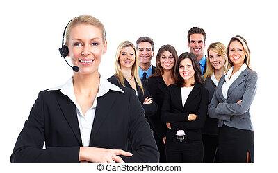 woman., вызов, центр, секретарь