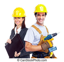workers., промышленные, группа