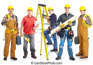 workers, промышленные, group.