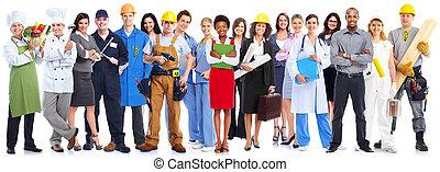 workers, group., бизнес, люди
