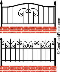wrought-iron, различный, забор