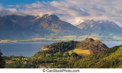 zealand, mountains, queenstown, озеро, wakatipu, новый